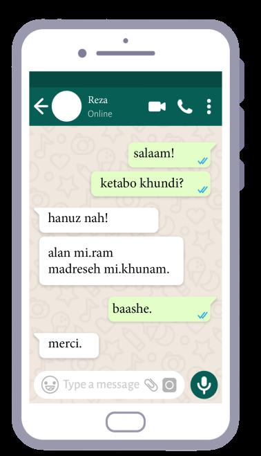 Writing Farsi in spoken format